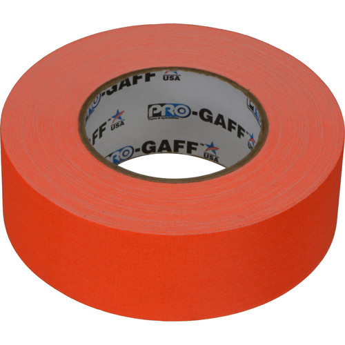 "ProTapes Pro Gaffer Tape (2"" x 50 yd, Fluorescent Orange)"