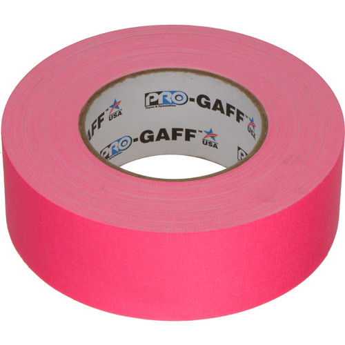 """ProTapes Pro Gaffer Tape (2"""" x 50 yd, Fluorescent Pink)"""