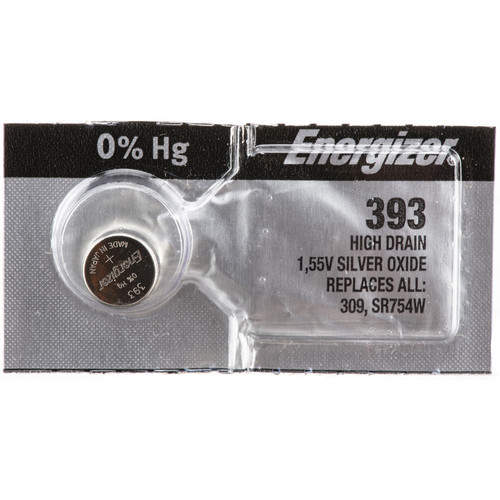General Brand V393 Silver-Oxide Button-Cell Battery (1.55V, 75mAh)