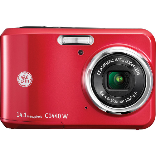 General Electric C1440W Digital Camera (Red)