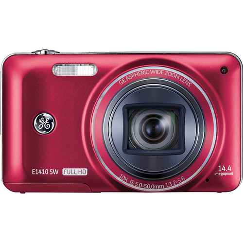 General Electric E1410SW Digital Camera (Red)