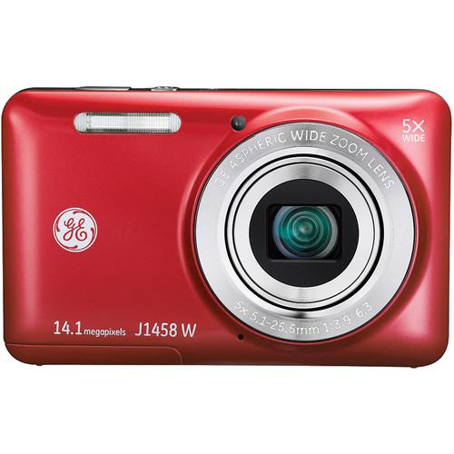General Electric J1458W Digital Camera (Red)