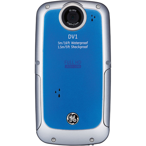 General Electric DV1 1080p HD Digital Video Camera (Aqua Blue)