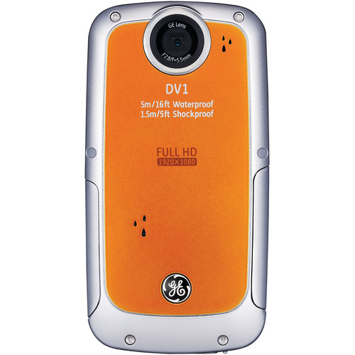 General Electric DV1 1080p HD Digital Video Camera (Orange)