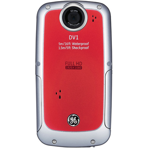 General Electric DV1 1080p HD Digital Video Camera (Red)