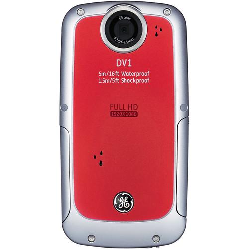 General Electric DV1 1080p HD Digital Video Camera (Red)