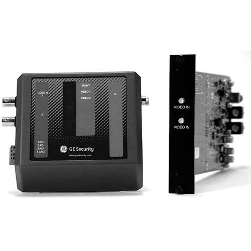 Interlogix 2-Channel Fiber Optic Video Receiver (Rack, 1300 nm)