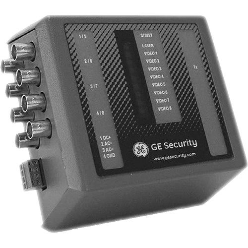 Interlogix 8-Channel Fiber Optic Video Transmitter (Single-mode)