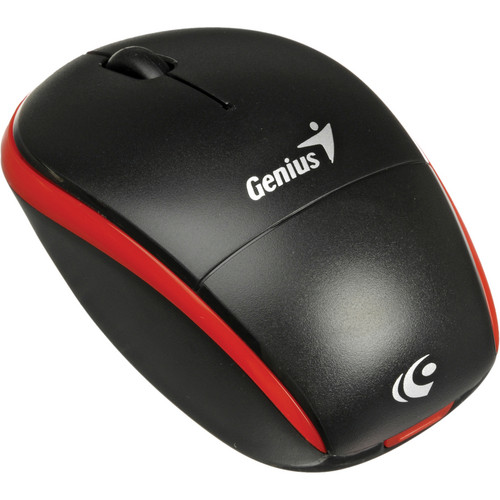 Genius Traveler 9000 2.4GHz Wireless BlueEye Notebook Mouse (Black / Red Trim)