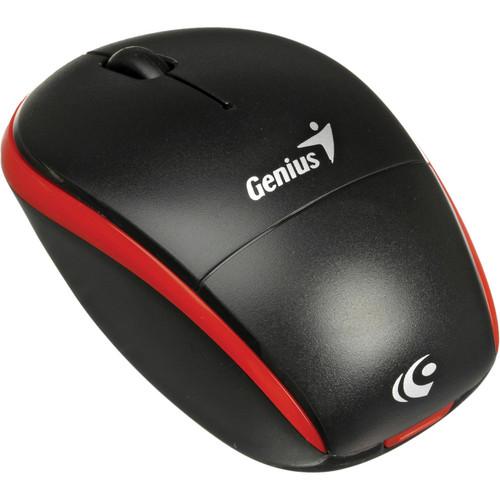 Genius Traveler 9000 2.4GHz Wireless BlueEye Notebook Mouse (Black / Red Trim)