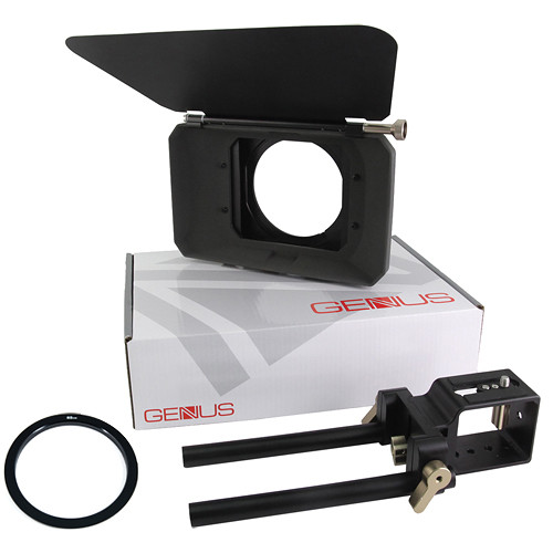Genustech DSLR Mattebox Kit with French Flag & 82mm Adapter Ring