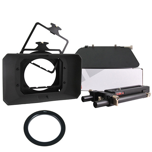 Genustech Superior Matte Box w/Advanced Adapter Bars, French Flag & 77mm Adapter Ring