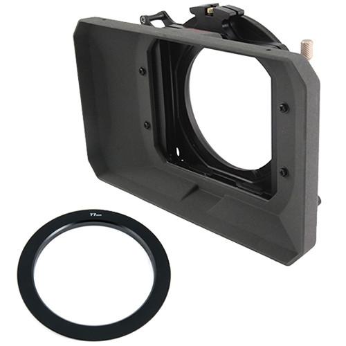 "Genustech GWMC Wide 4 x 4"" Matte Box Kit with 77mm Adapter Ring"