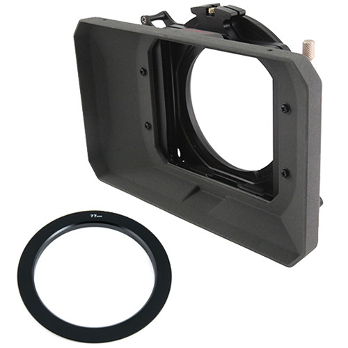 "Genustech GWMC Wide 4 x 4"" Matte Box Kit with 77mm Adapter Ring"