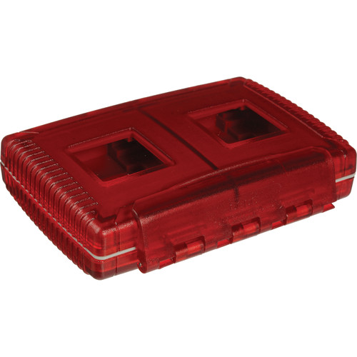 Gepe Card Safe Extreme Watertight Case - for Four Compact Flash (CF), Smart Media (SM), Memory Stick (MS), Multi Media (MMC) or Secure Digital Cards (Rosso Red)