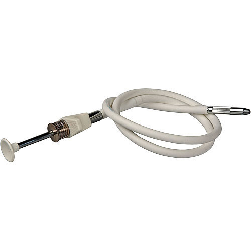 """Gepe PVC Pro Threaded Cable Release with Disc Lock (40"""", White)"""