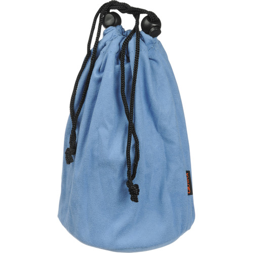 """Giottos Microfiber Cleaning Pouch (9.8x7.9"""") Blue"""