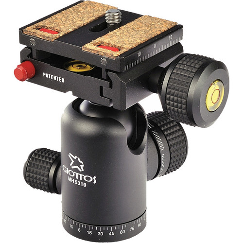 Giottos MH5310-655C Ballhead with Arca-Style Quick Release Plate