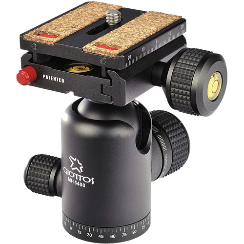 Giottos MH5400-656C Ballhead with Arca-Style Quick Release Plate