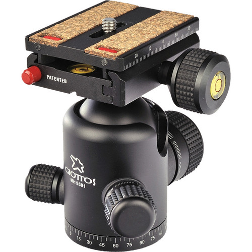 Giottos MH5501-657C Ballhead with Arca-Style Quick Release Plate