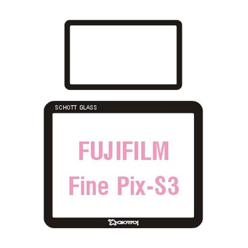 Giottos Aegis Professional M-C Schott Glass LCD Screen Protector for Fujifilm FinePix S3
