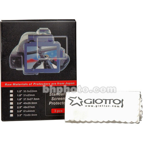 """Giottos LCD Screen Protector Set (all sizes from 1.5 - 3.5"""")"""