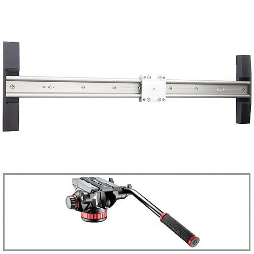 "Glidetrack 20"" Glidetrack HD & Manfrotto 502HD 3/8""-16 Head/Base Kit"