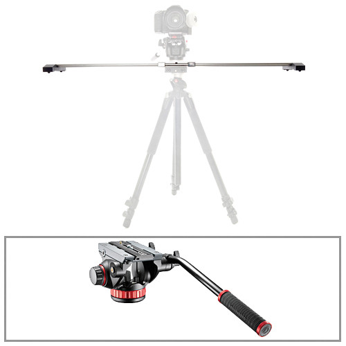 "Glidetrack 20"" Glidetrack SD & Manfrotto 502HD 3/8""-16 Head/Base Kit"