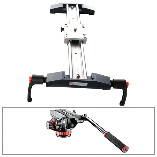 "Glidetrack 20"" Glidetrack Shooter HD & Manfrotto 502HD 3/8""-16 Head/Base Kit"