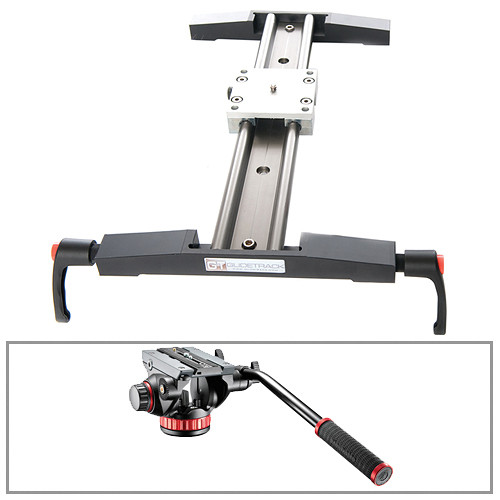 """Glidetrack 20"""" Glidetrack Shooter SD & Manfrotto 502HD 3/8""""-16 Head/Base Kit"""