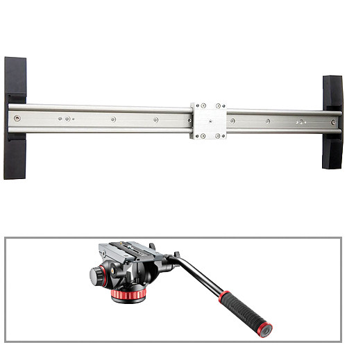 "Glidetrack 30"" Glidetrack HD & Manfrotto 502HD 3/8""-16 Head/Base Kit"