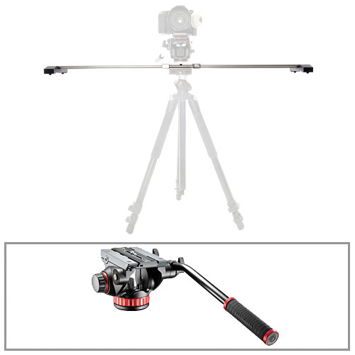 "Glidetrack 30"" Glidetrack SD & Manfrotto 502HD 3/8""-16 Head/Base Kit"