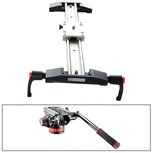 "Glidetrack 30"" Glidetrack Shooter HD & Manfrotto 502HD 3/8""-16 Head/Base Kit"