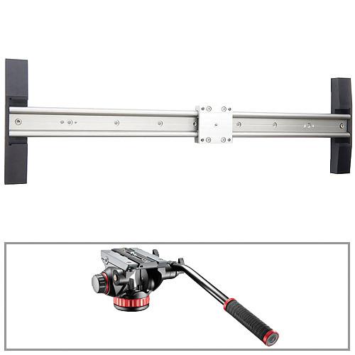 "Glidetrack 5 ft Glidetrack HD & Manfrotto 502HD 3/8""-16 Head/Base Kit"