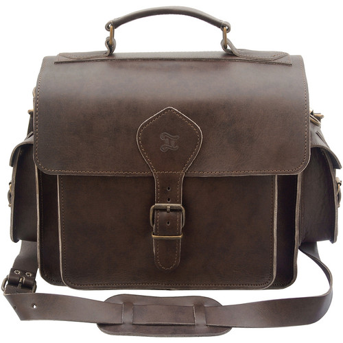 Grafea England Leather Camera Photo Bag (Large Size, Brown)