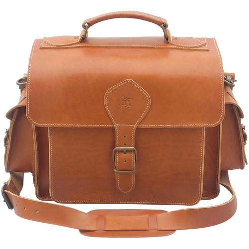 Grafea England Leather Camera Photo Bag (Large Size, Caramel)