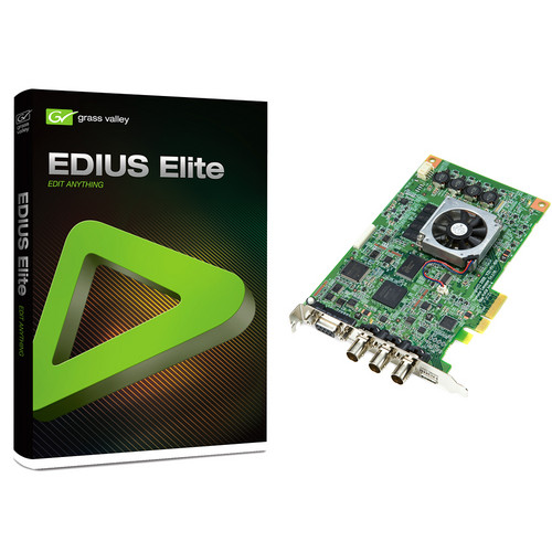 Grass Valley EDIUS Elite 1.01 NLE System with STORM 3G Board