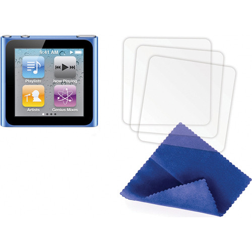 Griffin Technology Screen Care Kit for iPod nano 6th Generation Media Player (Matte 3 Pack)
