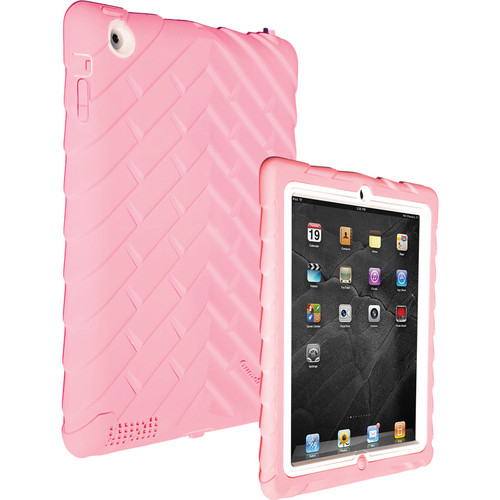 Gumdrop Cases Drop Tech Series Case for iPad 2nd, 3rd, and 4th Generation (Pink/White)