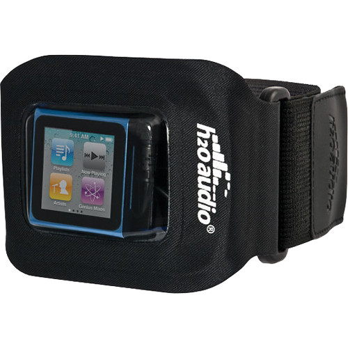 H2O Audio Amphibx Fit Waterproof Armband for iPod nano, shuffle and Small MP3 Players (Black)