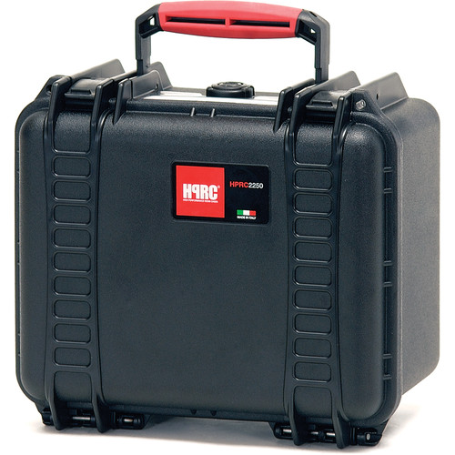 HPRC 2250E Hard Case without Foam (Black with Red Handle)