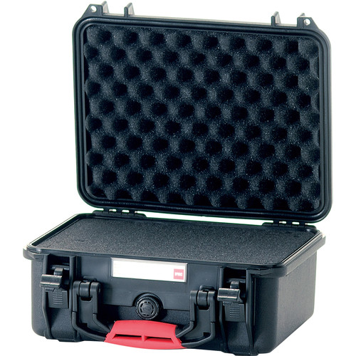 HPRC 2300F Hard Case with Foam (Black with Red Handle)