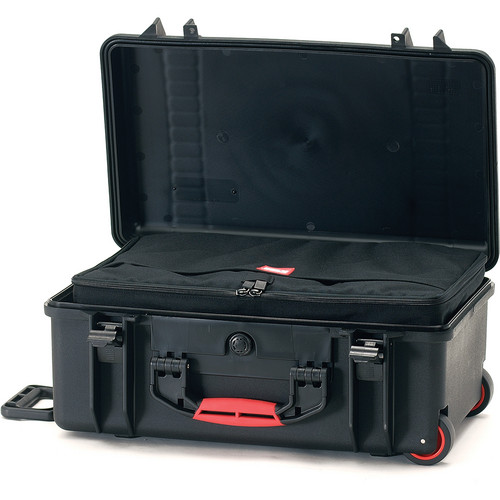 HPRC HPRC2550W Water-Resistant Hard Case with Interior Nylon Bag and Built-In Wheels (Black)