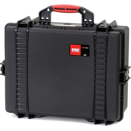 HPRC 2600E HPRC Hard Case without Foam (Black with Red Handle)