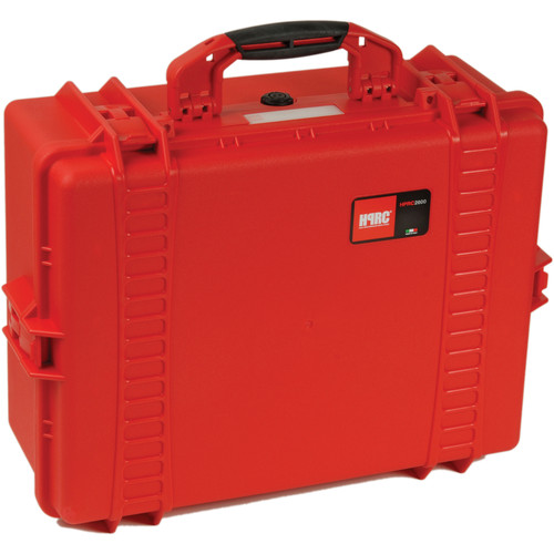 HPRC 2600F HPRC Hard Case with Cubed Foam Interior (Red)