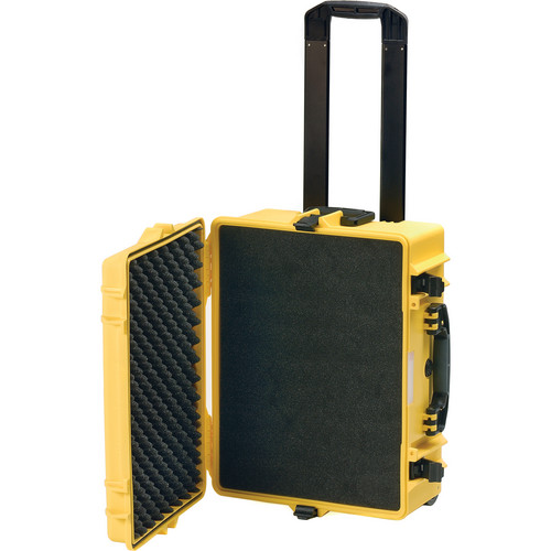 HPRC 2600 Wheeled Hard Case with Cubed Foam Interior (Yellow)