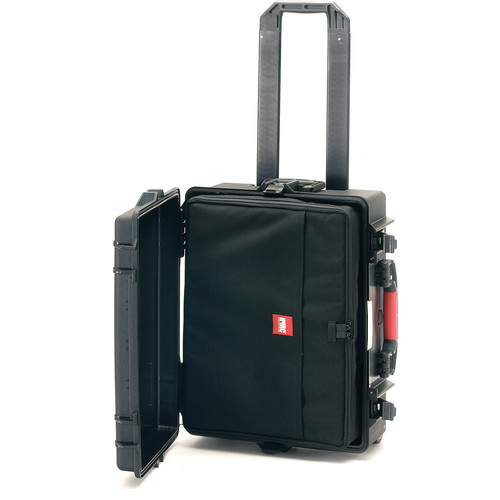 HPRC Water-Resistant Hard Case with Interior Nylon Bag and Built-In Wheels (Black)