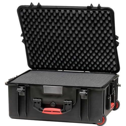 HPRC 2700WF HPRC Hard Case with Foam (Black with Red Handle)