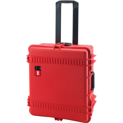 HPRC 2700WF Wheeled Hard Case with Cubed Foam Interior (Red)