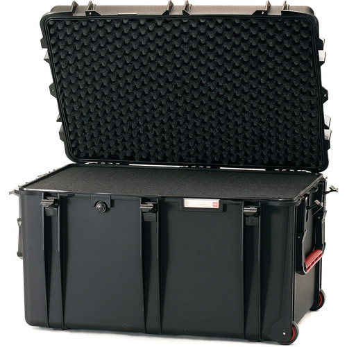 HPRC 2800WF Wheeled Trunk Case with Cubed Foam Interior (Black)